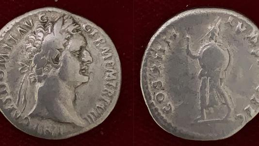 Domitian AR Denarius 88 CE                                           RIC 596