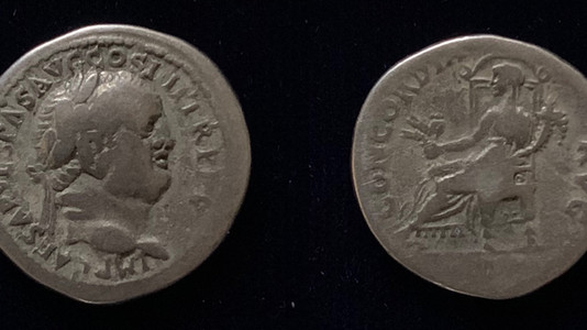 Vespasian AR Denarius 73 CE (Group 7)