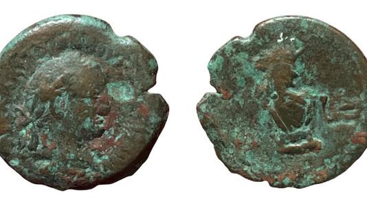 Vespasian Obol 74-75 CE