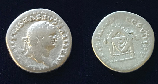 Titus AR Denarius 80 CE         January 1 - June 30