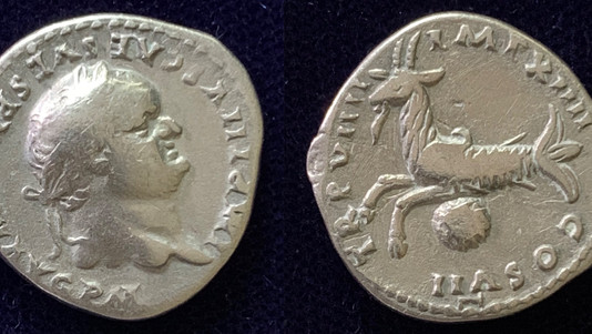 Very early Augustus issue of Titus 79 CE