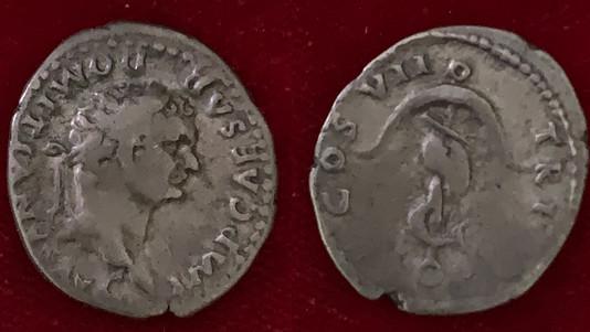 Domitian AR Denarius 81 CE (Group 1)                          RIC 2