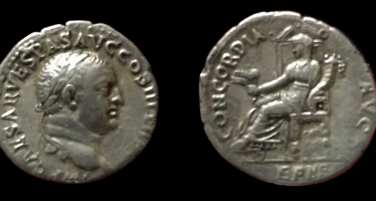Vespasian AR Denarius 71 CE  (Group 6)