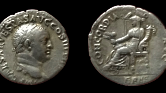 Vespasian AR Denarius 71 CE  (Group 6)