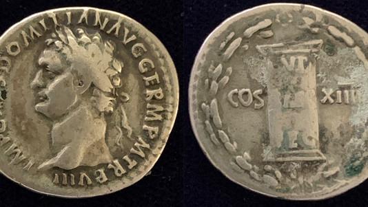 A Once in a lifetime Domitian denarius                             RIC  605
