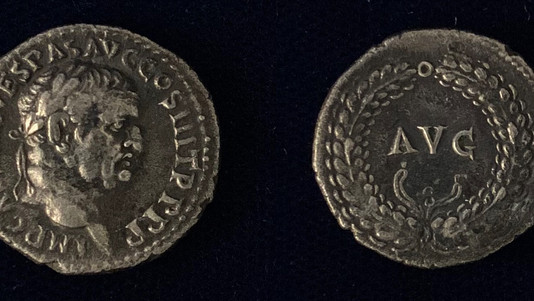 Vespasian AR Denarius 71 CE                                             RIC 1422AA(unpublished)
