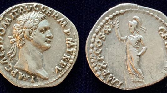 Domitian AR Denarius 85 CE (Sixth issue)                        RIC 393