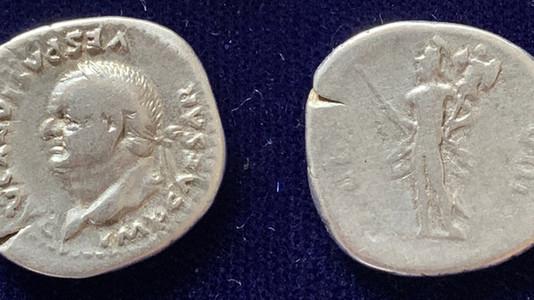 A common left-facing portrait for Vespasian
