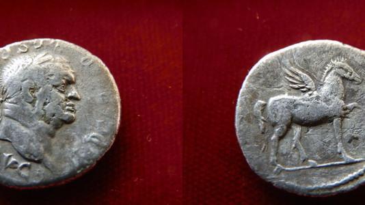 Vespasian Denarius 76 CE