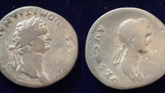 Domitian and Domitia 82 CE                                               RIC 845