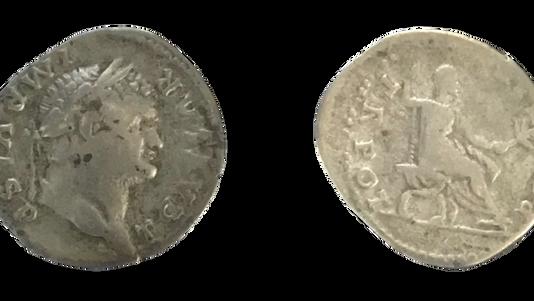Titus as Caesar AR Denarius 74 CE