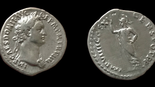 Domitian AR Denarius 85 CE    (Fourth Issue)