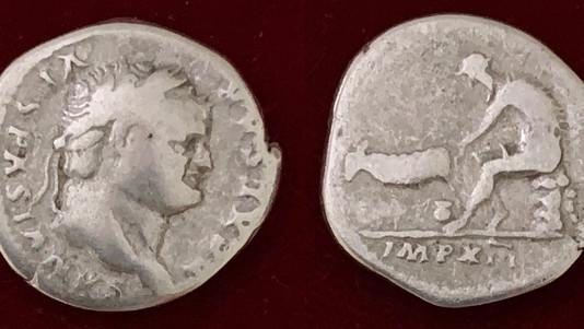 Titus as Caesar AR Denarius                                              (July 77 to December 78 CE)