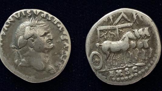 Divus Vespasian denarius