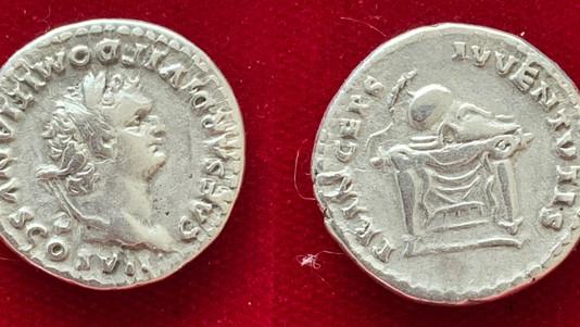 Domitian AR Denarius                                                           RIC 271 [Titus]