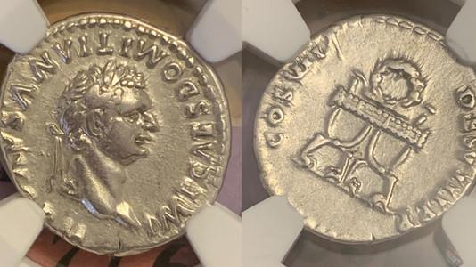 Domitian AR Denarius 81 CE                                             RIC 24