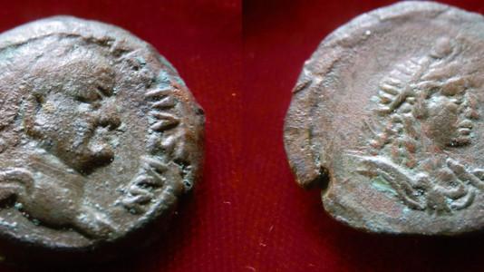 Vespasian Diobol 70-71 CE