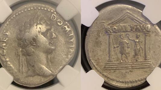Domitian AR Cistophorus 95 CE                                      RIC 854