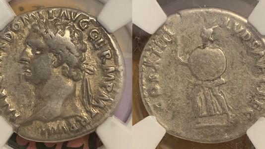 Domitian AR Denarius 88 CE                                            RIC 597