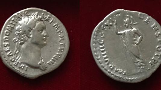 Domitian AR Denarius 85 CE (Fourth Issue)