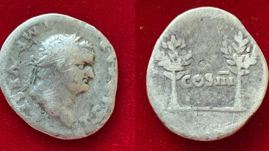 Titus as Caesar AR Denarius 74                                         RIC 690 [Vespasian]