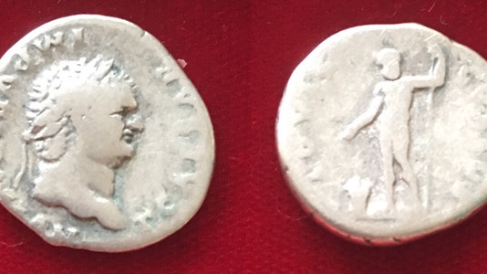 Titus AR Denarius 76 CE (First Issue)