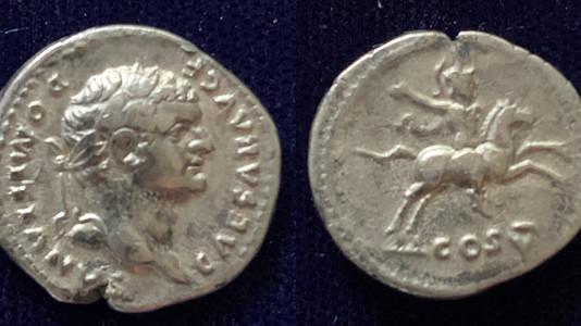 Brilliant portrait on this Domitian denarius