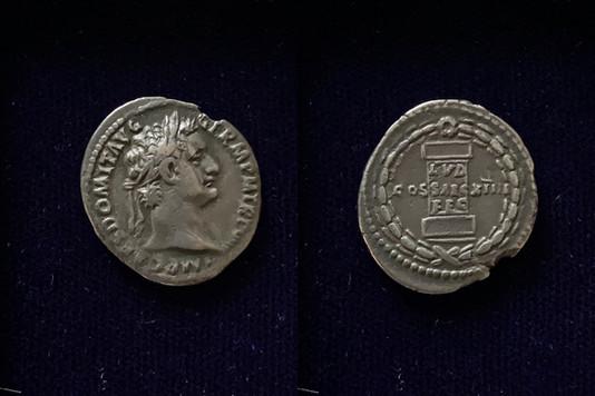 Domitian AR Denarius 88 CE                                            RIC 604