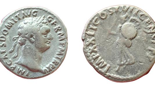 Domitian AR Denarius  95/96 CE                                     RIC 791