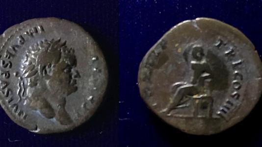 Titus AR Denarius 75 CE