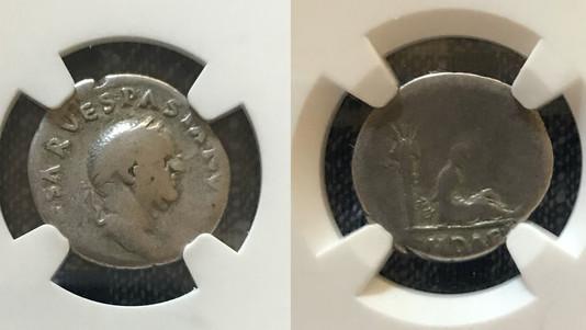 Vespasian AR denarius (69-70 CE)