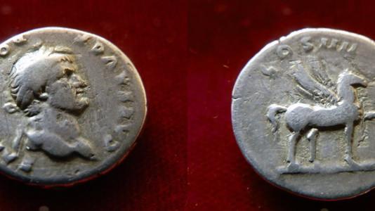 Domitian AR Denarius 76-77 CE