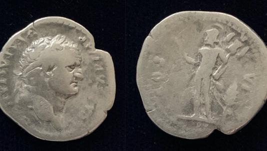 Titus as Caesar AR Denarius 77-78 CE