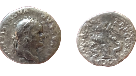 Vespasian AR Denarius 75 CE