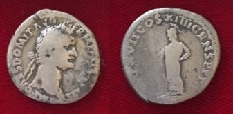 Domitian AR Denarius Sept 14 88 CE- Sept 13 89 CE (Second Issue)