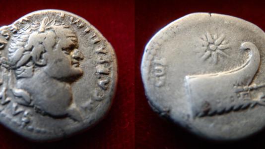 Titus Denarius 79-81 CE