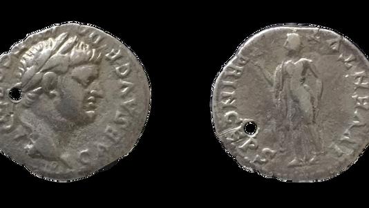 Domitian AR Denarius 'O' Mint 76 CE