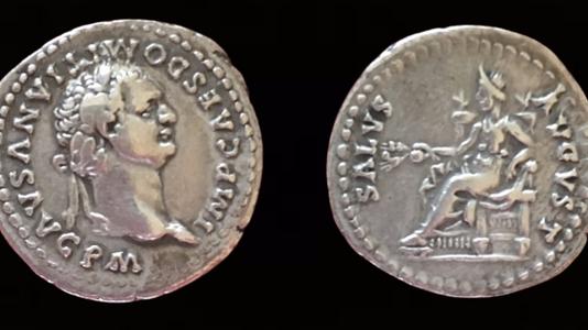 Domitian AR Denarius 82-83 CE
