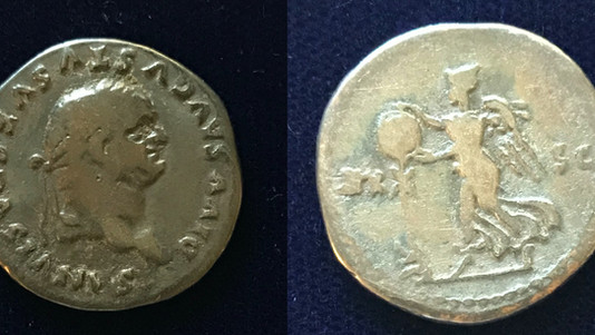 Vespasian AR Denarius struck under Titus as a Posthumous Issue (80-81 CE)