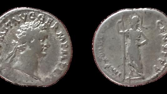 Domitian AR Denarius 86 CE       (Fifth Issue)