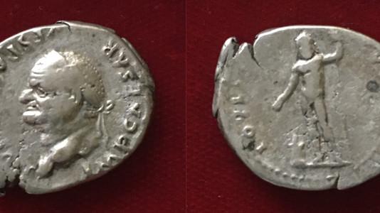 Vespasian AR Denarius 76 CE
