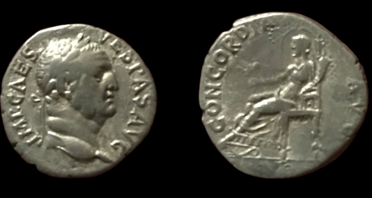 Vespasian AR Denarius 69-70 CE (Group 2)