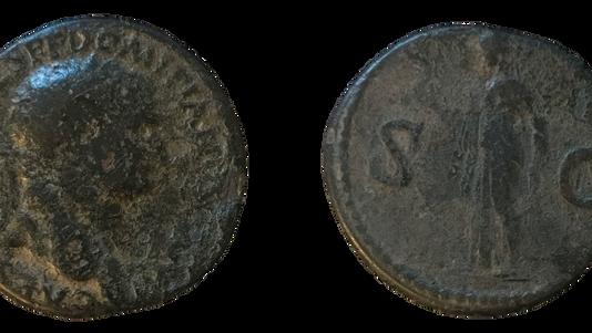 Domitian as Caesar Sestertius      (80-81 CE)