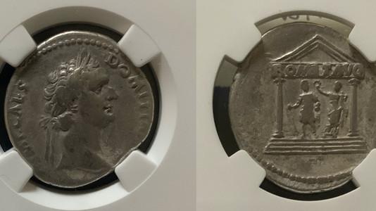 Domitian AR Cistophorus 95 CE