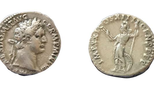 Domitian AR Denarius 88-89 CE
