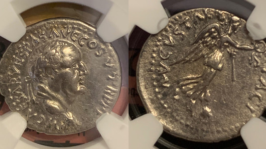 Vespasian AR Denarius 74 CE                                                RIC 1457
