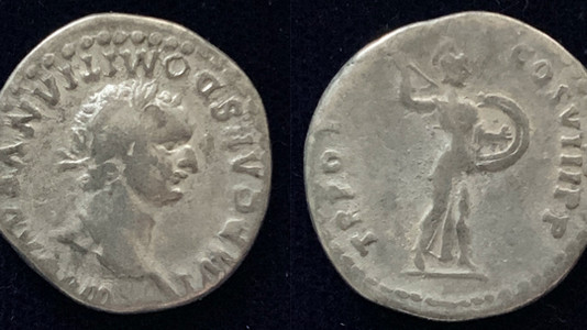 Domitian AR Denarius 77-78 CE