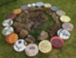 Mayan calendar mosaics