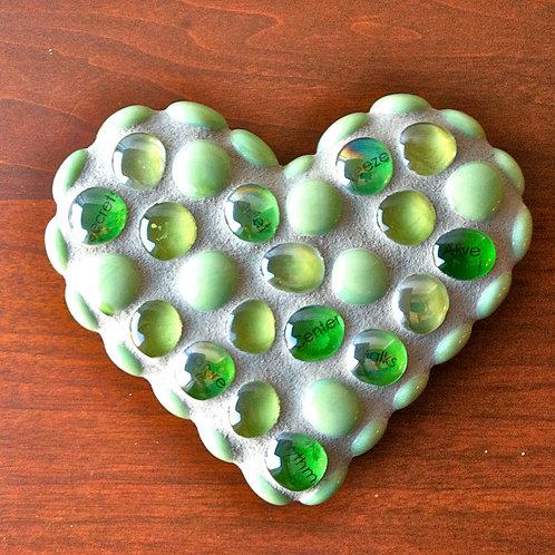 Quiet Center Mosaic Heart