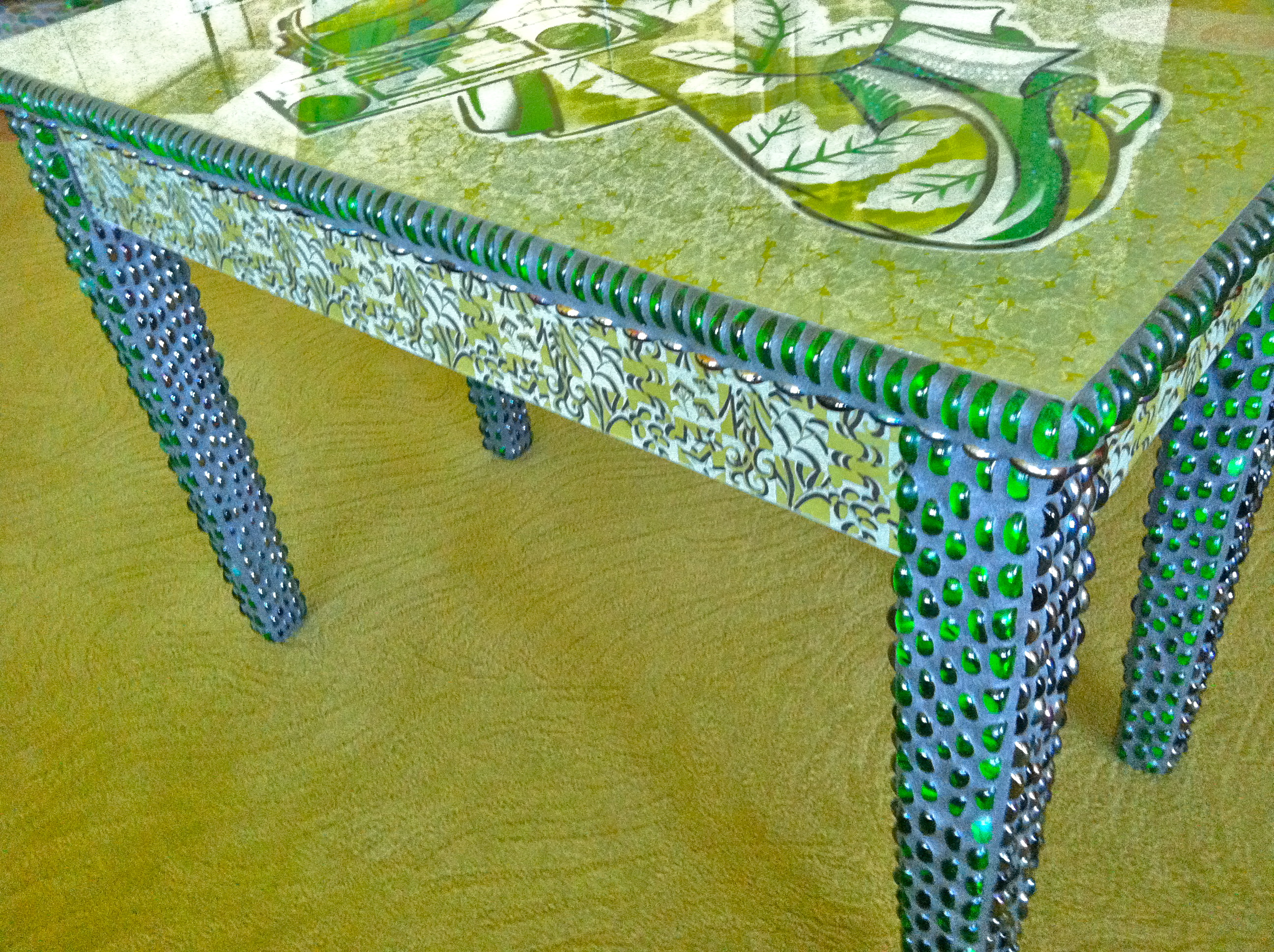 Found Image Mosaic Table